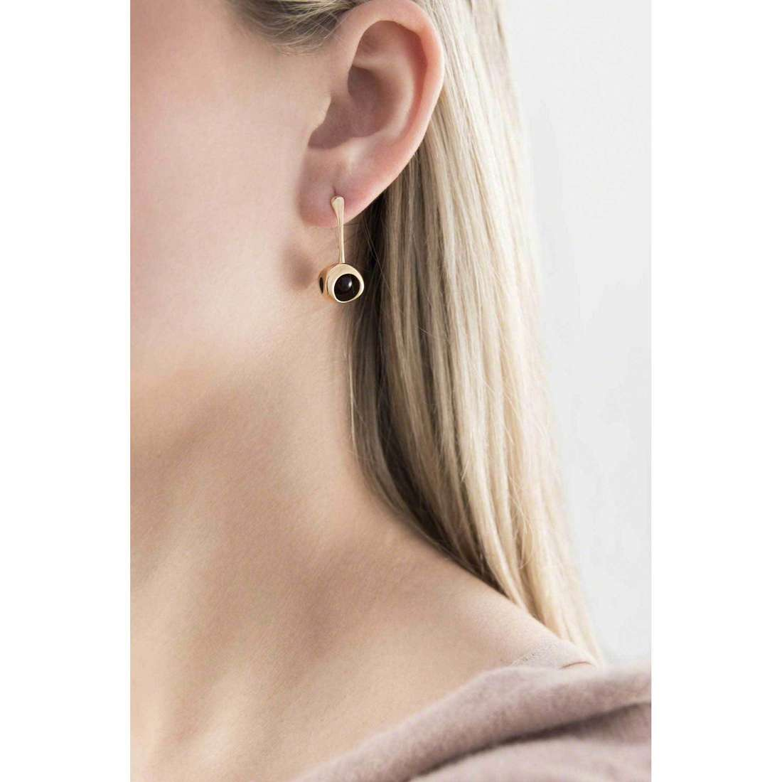 Breil earrings Red woman TJ1861 indosso