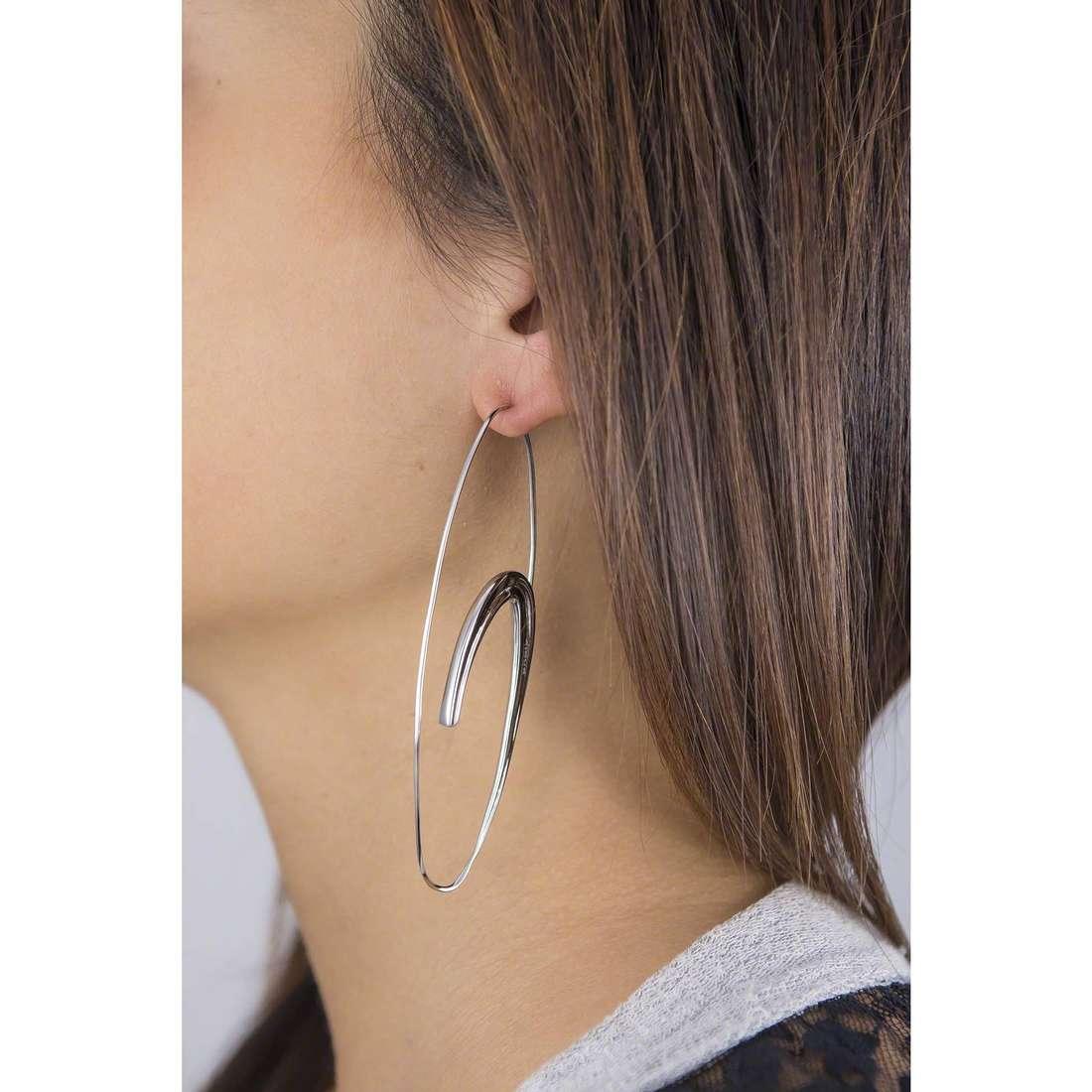 Breil earrings woman TJ1964 indosso