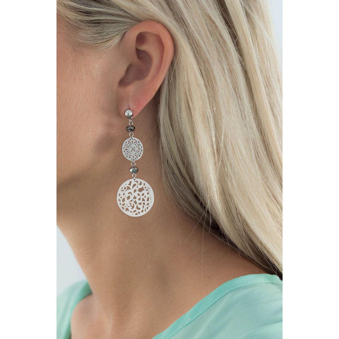 Brosway earrings Abracadabra woman BAB21 indosso