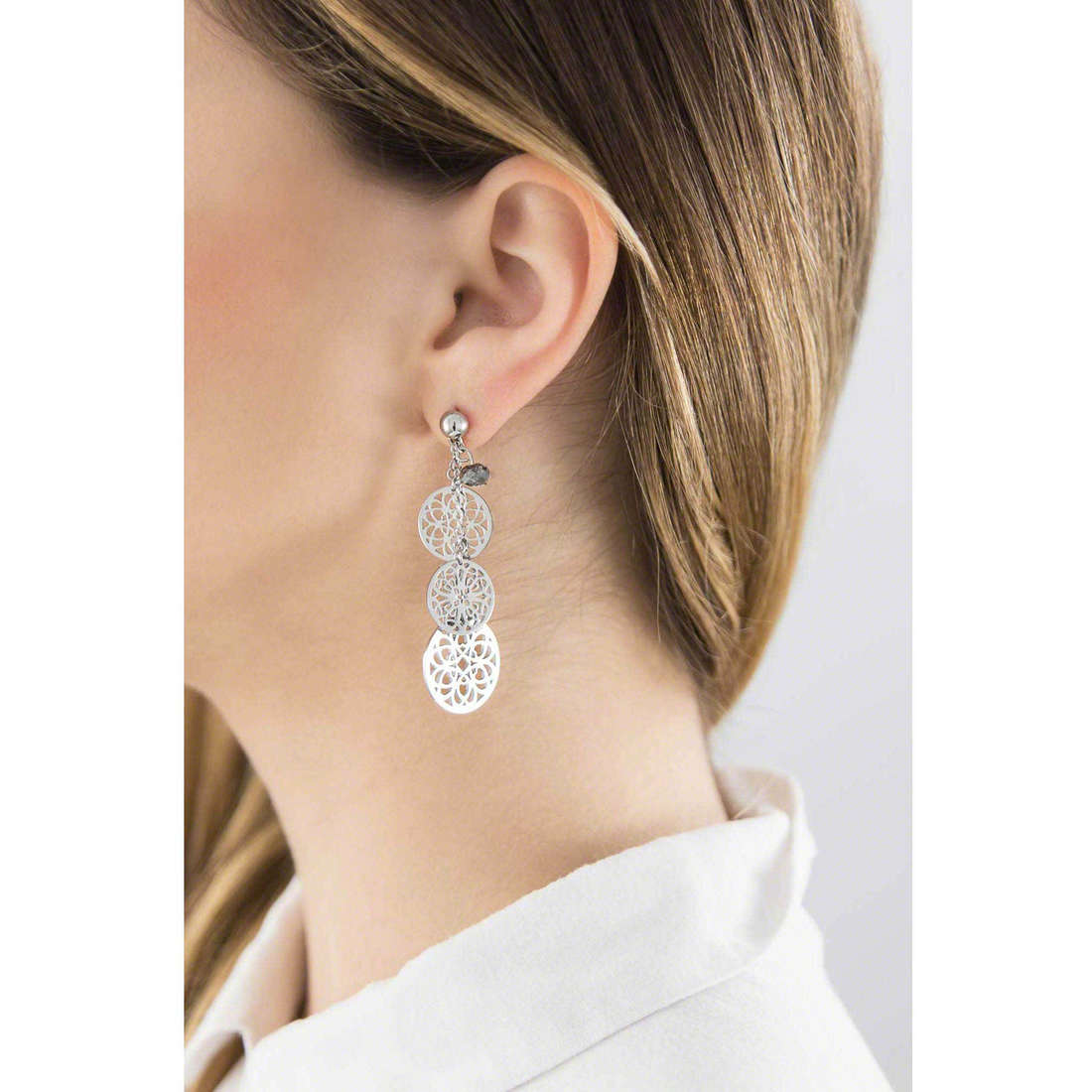 Brosway earrings Abracadabra woman BAB22 indosso