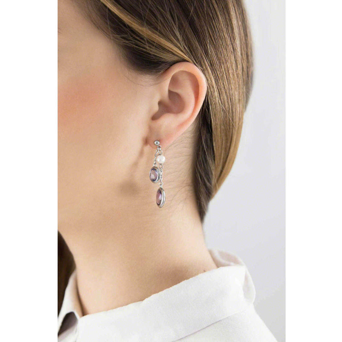 Brosway earrings Catherine woman BCA21 indosso