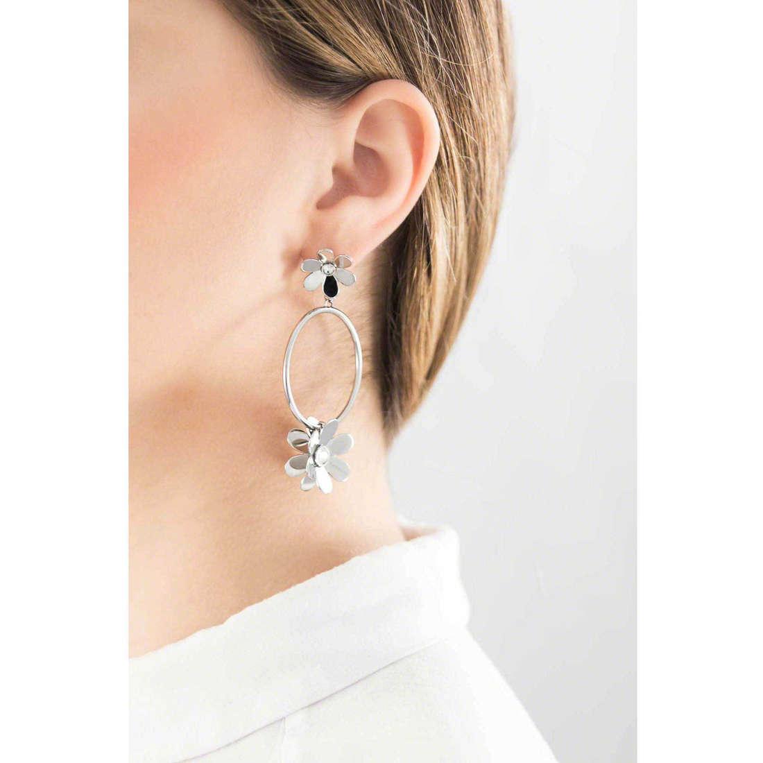 Brosway earrings Jardin woman BJR21 indosso