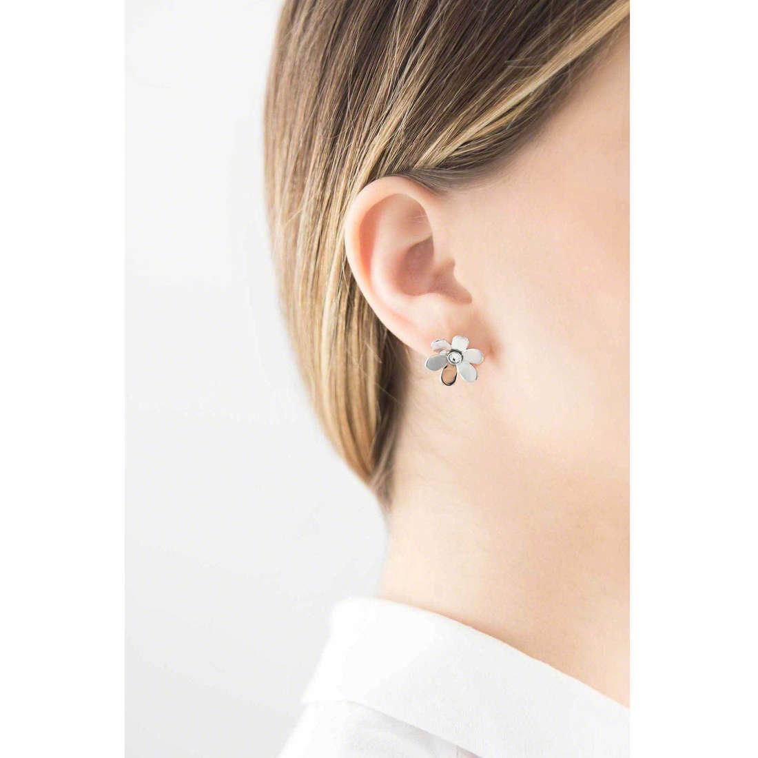 Brosway earrings Jardin woman BJR22 indosso