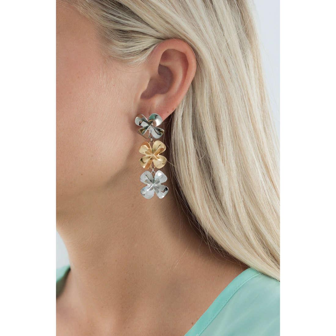 Brosway earrings Jasmine woman BJN22 indosso