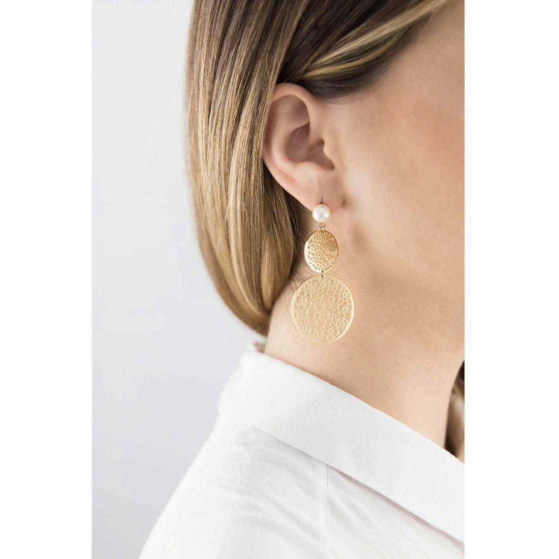 Brosway earrings Mademoiselle woman BIS21 indosso