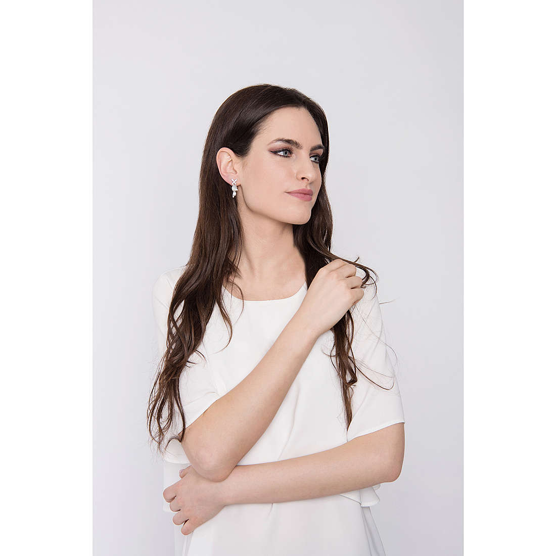 Comete earrings Farfalle woman ORA 110 photo wearing