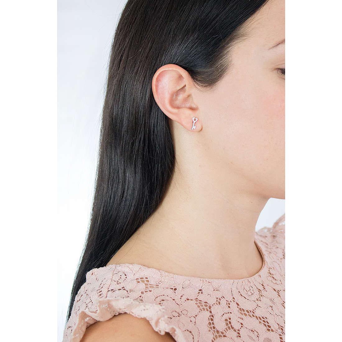 Comete earrings Love Tag woman ORA 124 photo wearing