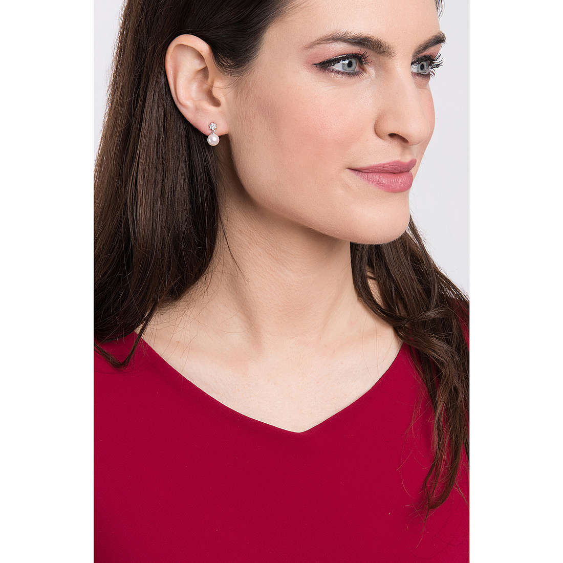 Comete earrings Bouquet woman ORP 495 photo wearing