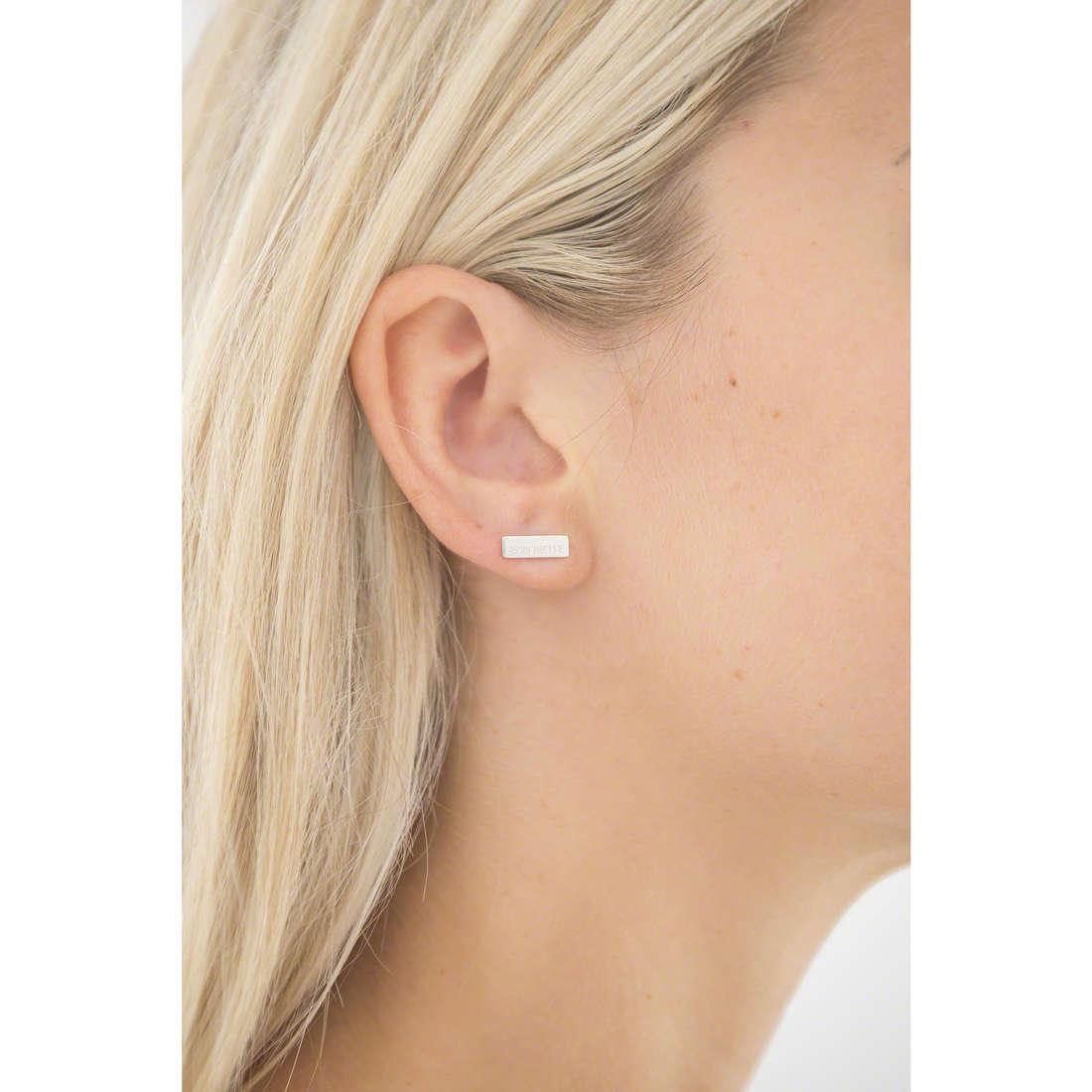 Emporio Armani earrings woman EG3306040 indosso