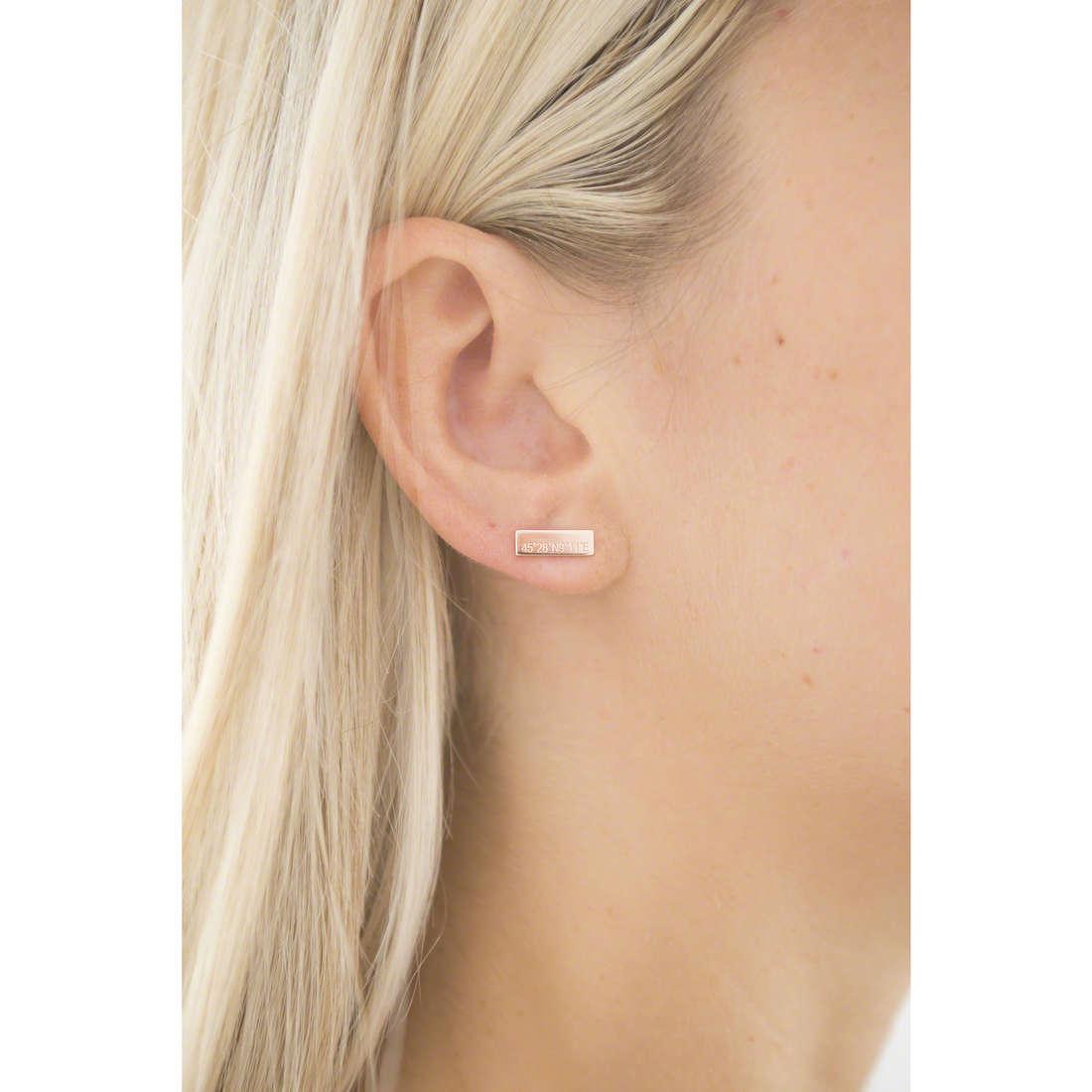 Emporio Armani earrings woman EG3307221 indosso