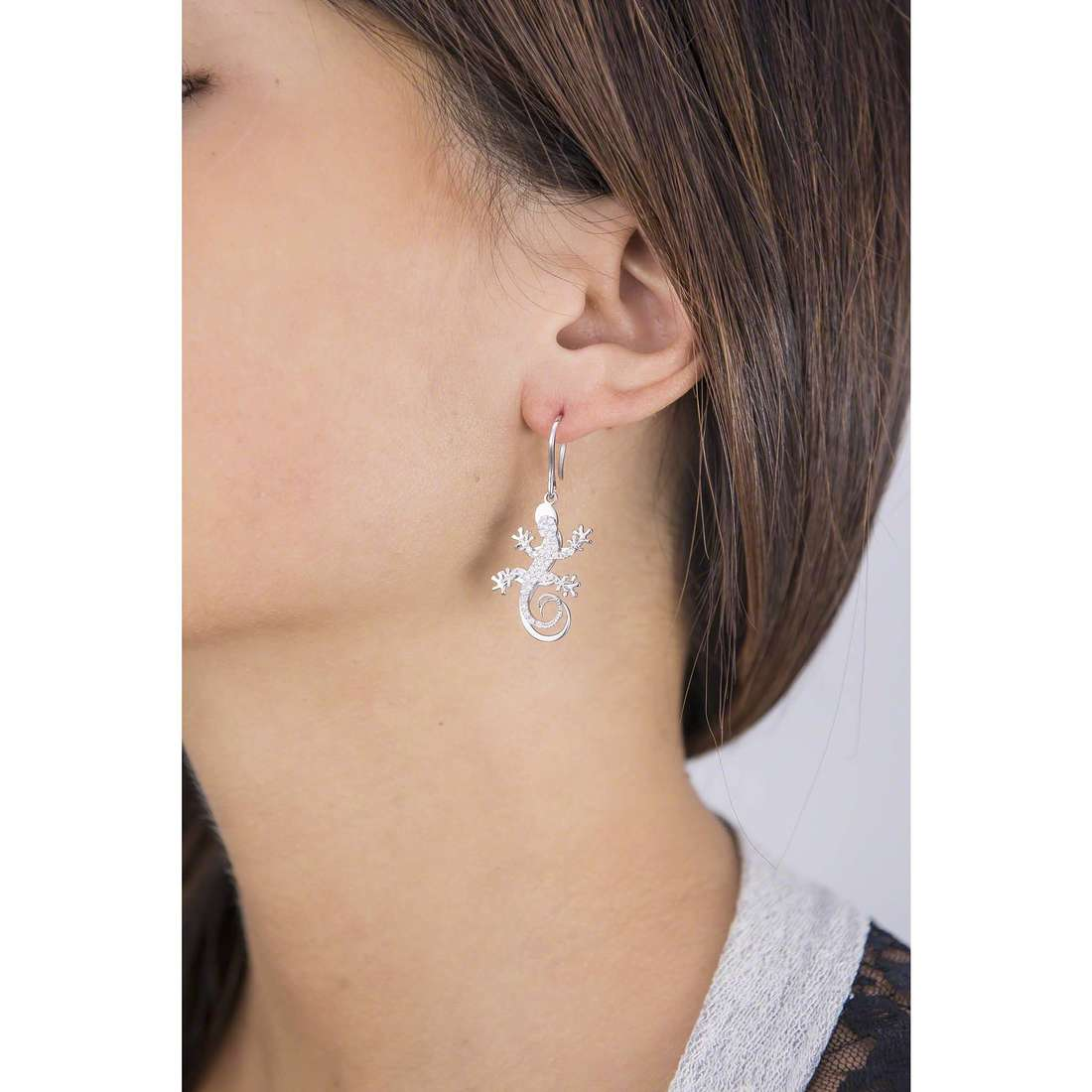 Giannotti earrings Il Geco woman GIANNOTTIGEA104 indosso