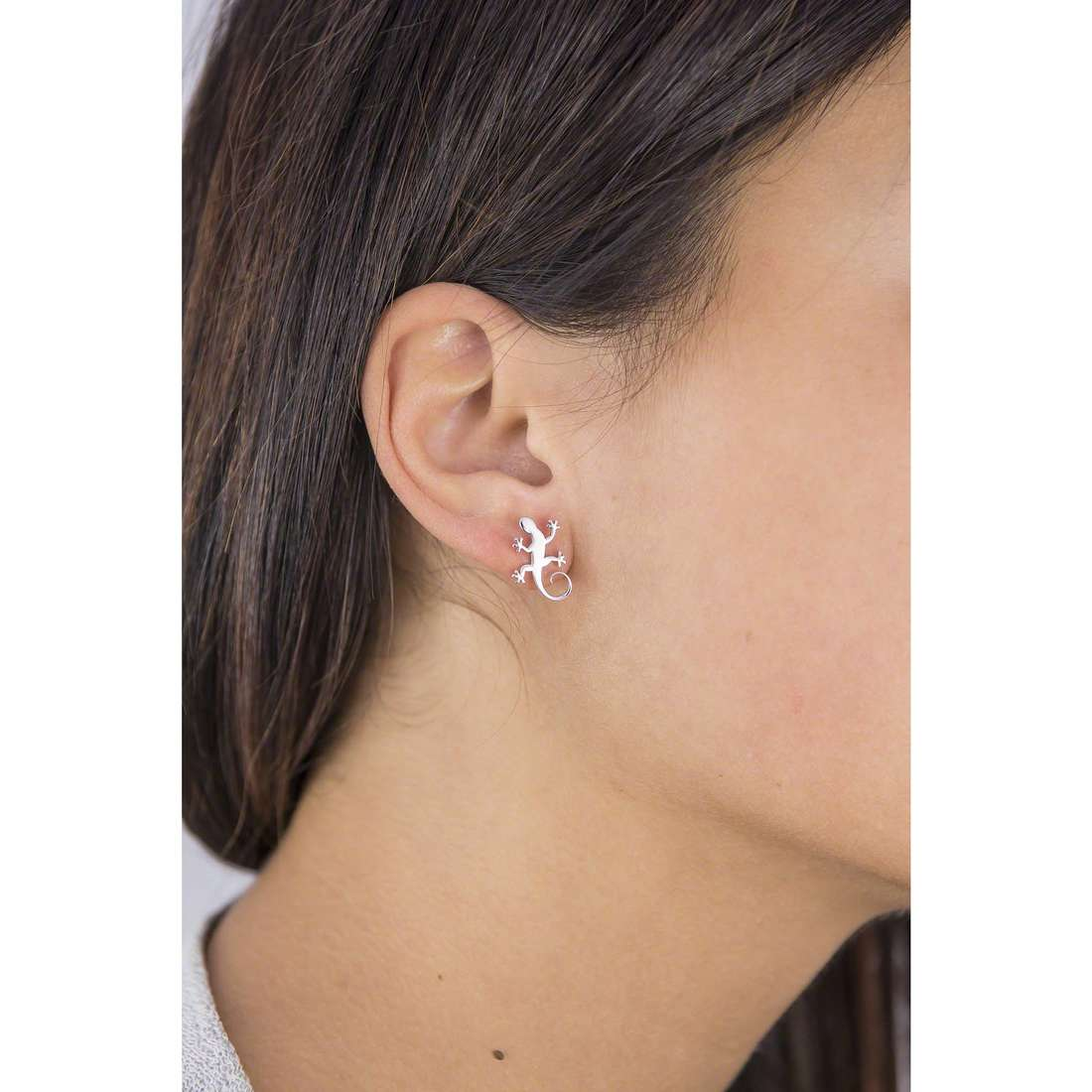 Giannotti earrings Il Geco woman GIANNOTTIGEA105 indosso