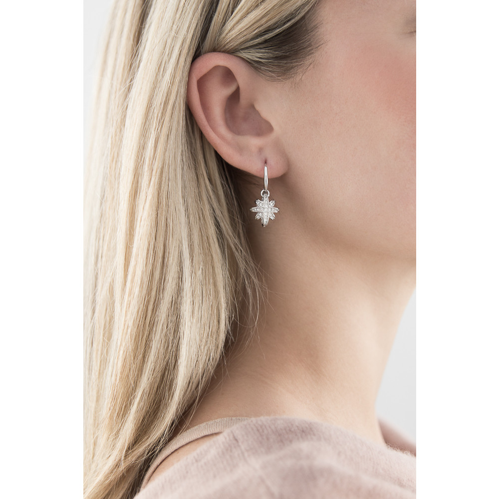 Guess earrings Rising Star woman UBE71535 indosso