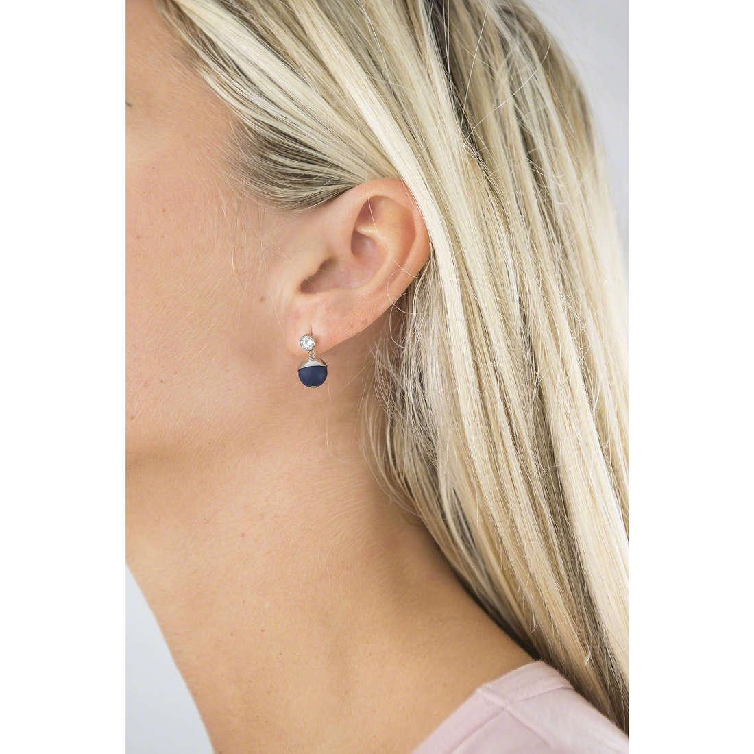 Hip Hop earrings Bon Bon woman HJ0234 indosso