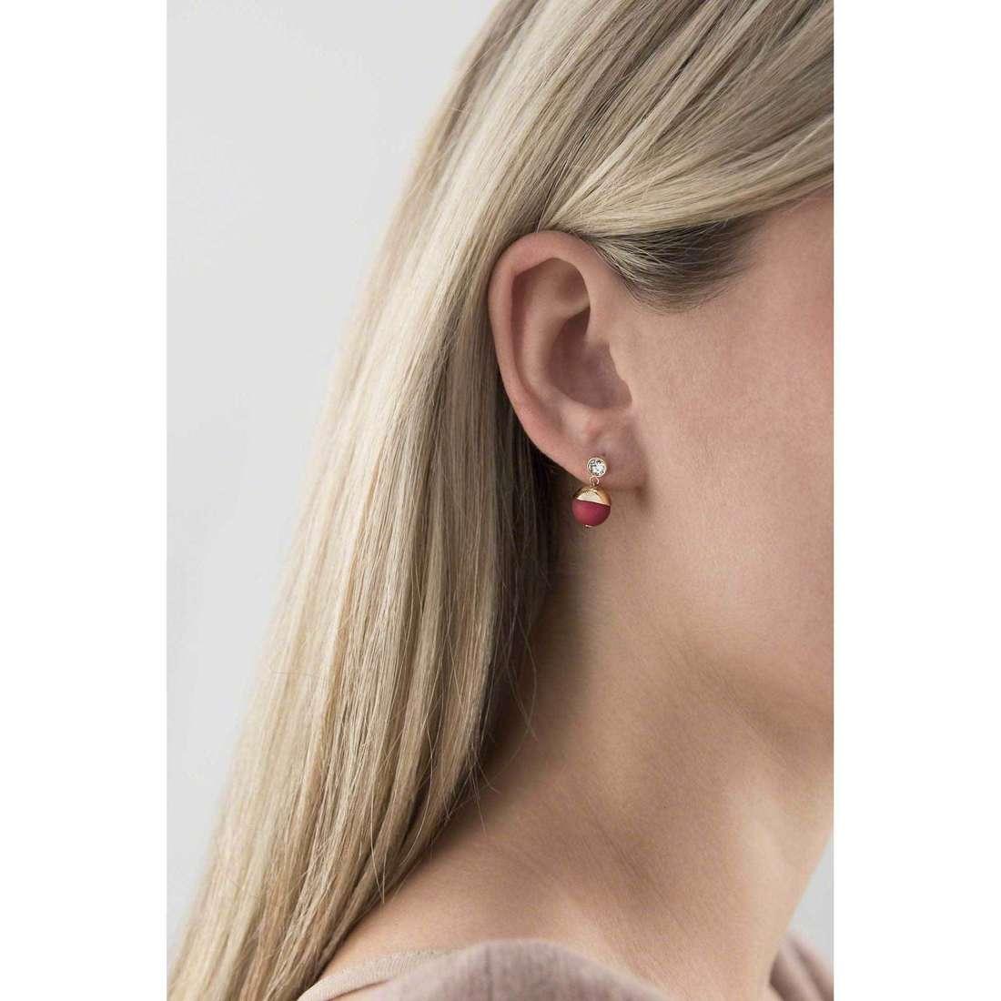 Hip Hop earrings Bon Bon woman HJ0235 indosso