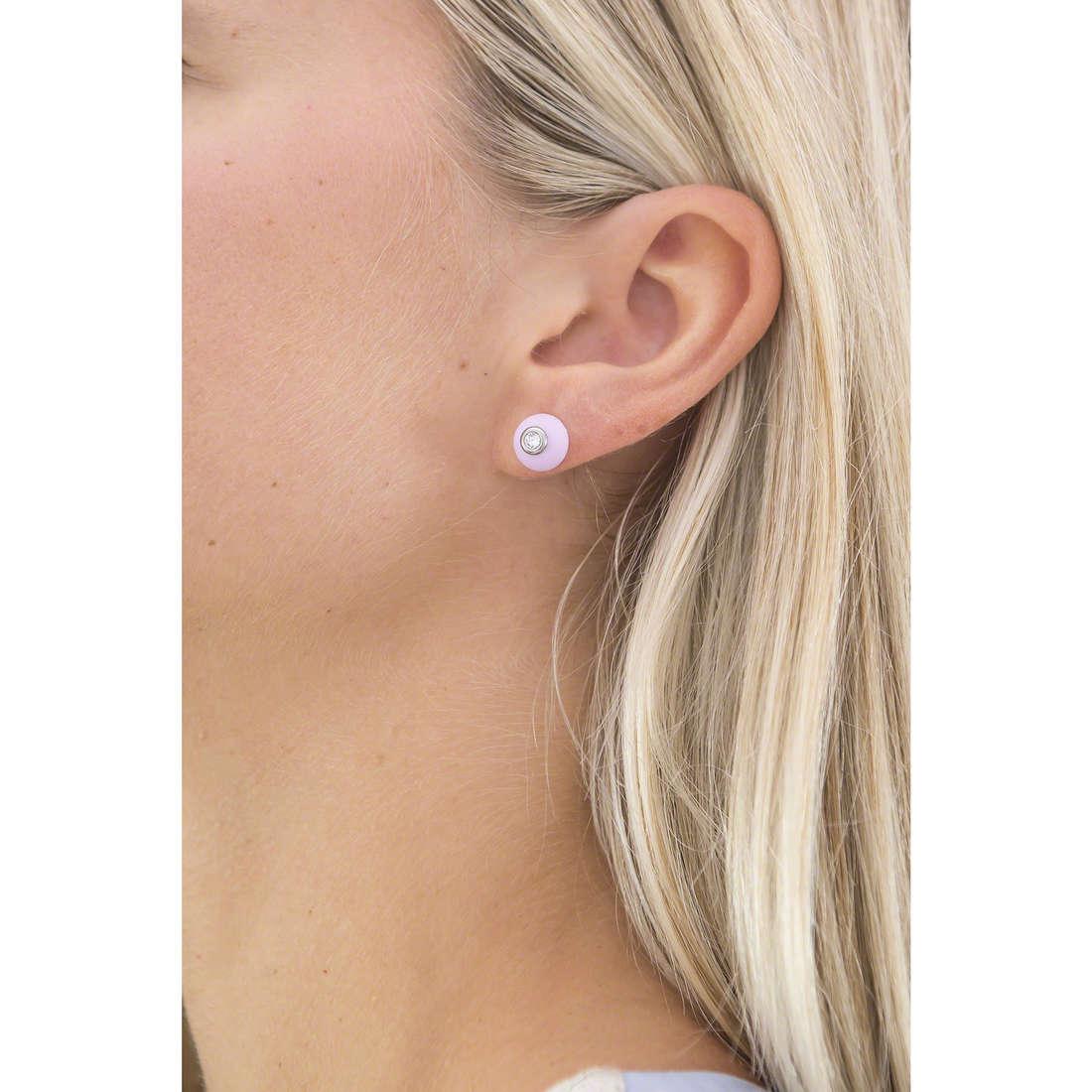 Hip Hop earrings Bon Bon woman HJ0282 indosso