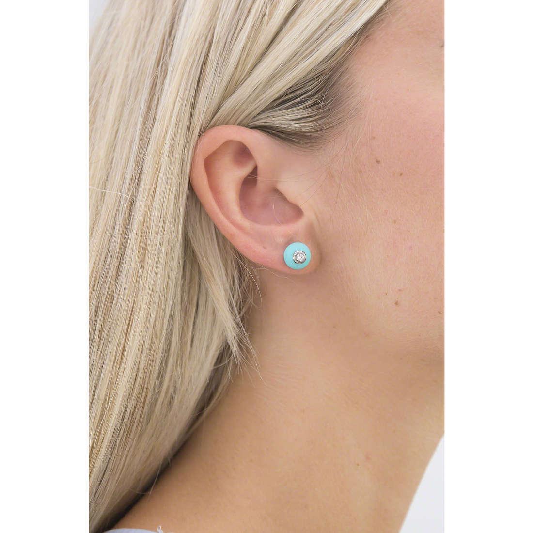 Hip Hop earrings Bon Bon woman HJ0284 indosso