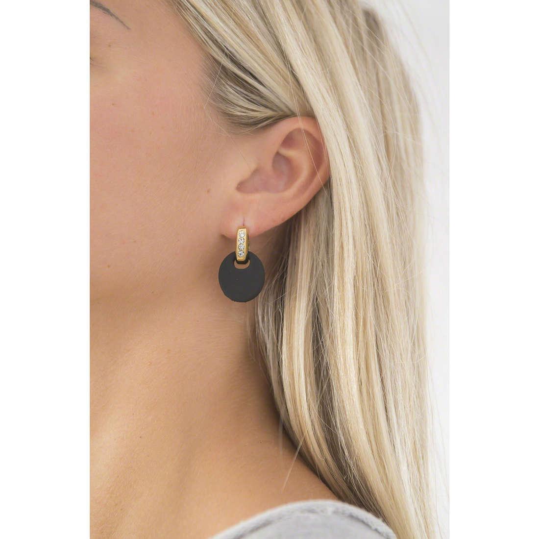 Hip Hop earrings Bon Ton woman HJ0205 indosso