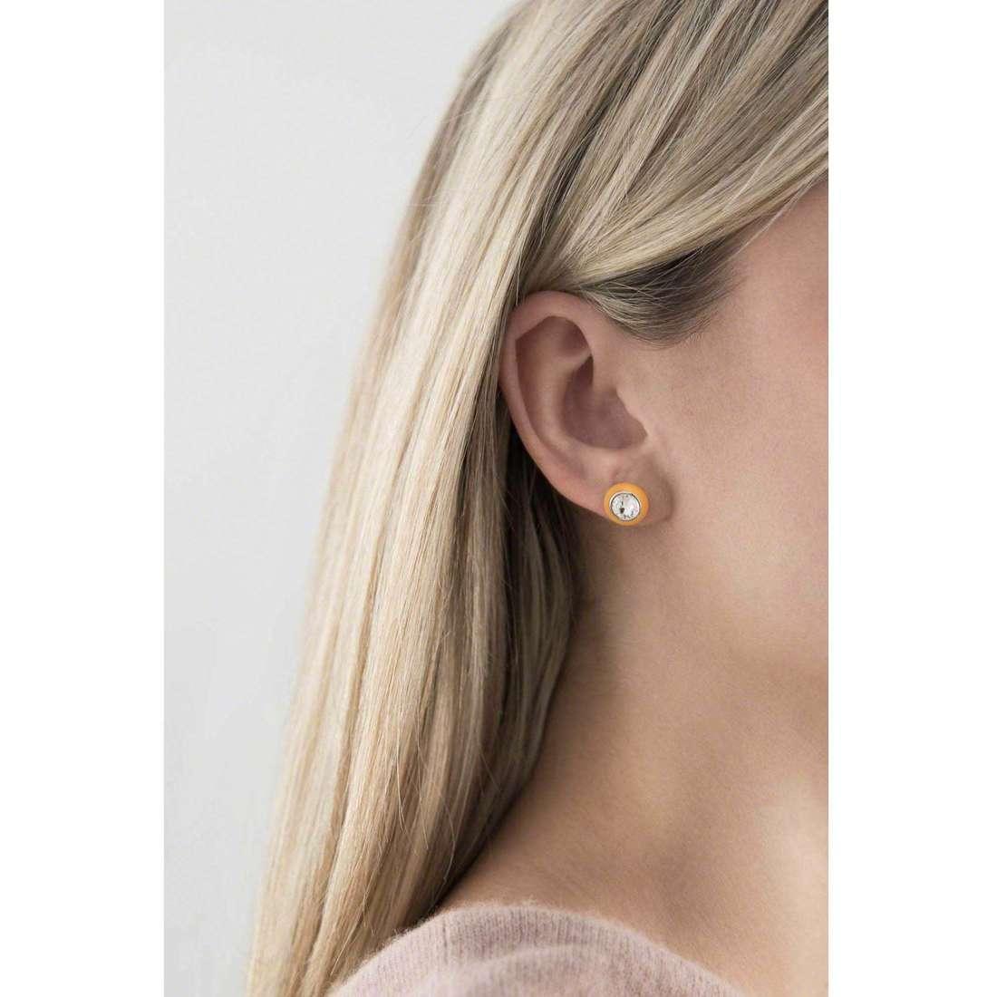 Hip Hop earrings Little Star woman HJ0122 indosso