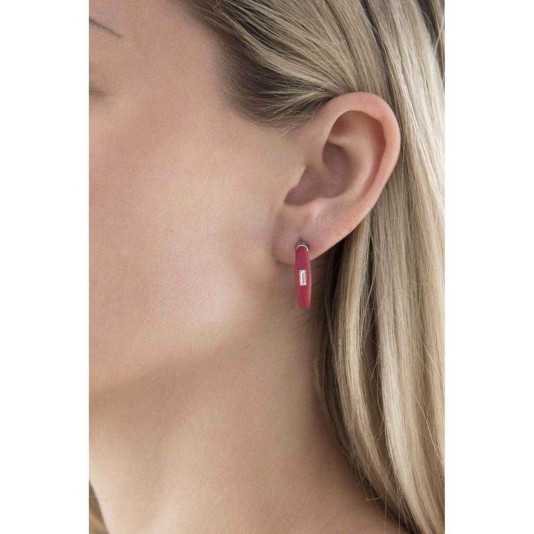 Hip Hop earrings Trilogy woman HJ0048 indosso