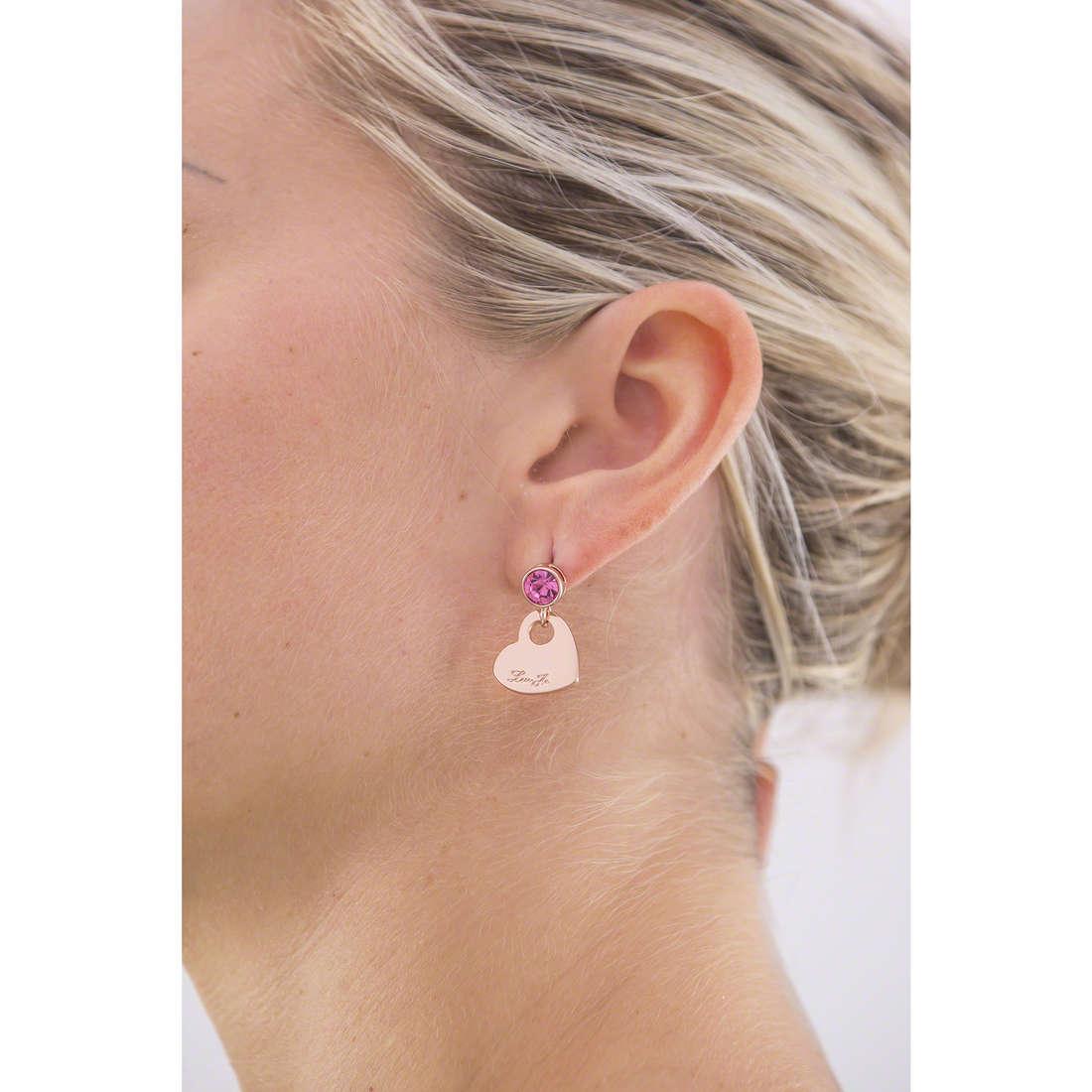 Liujo earrings Illumina woman LJ962 indosso