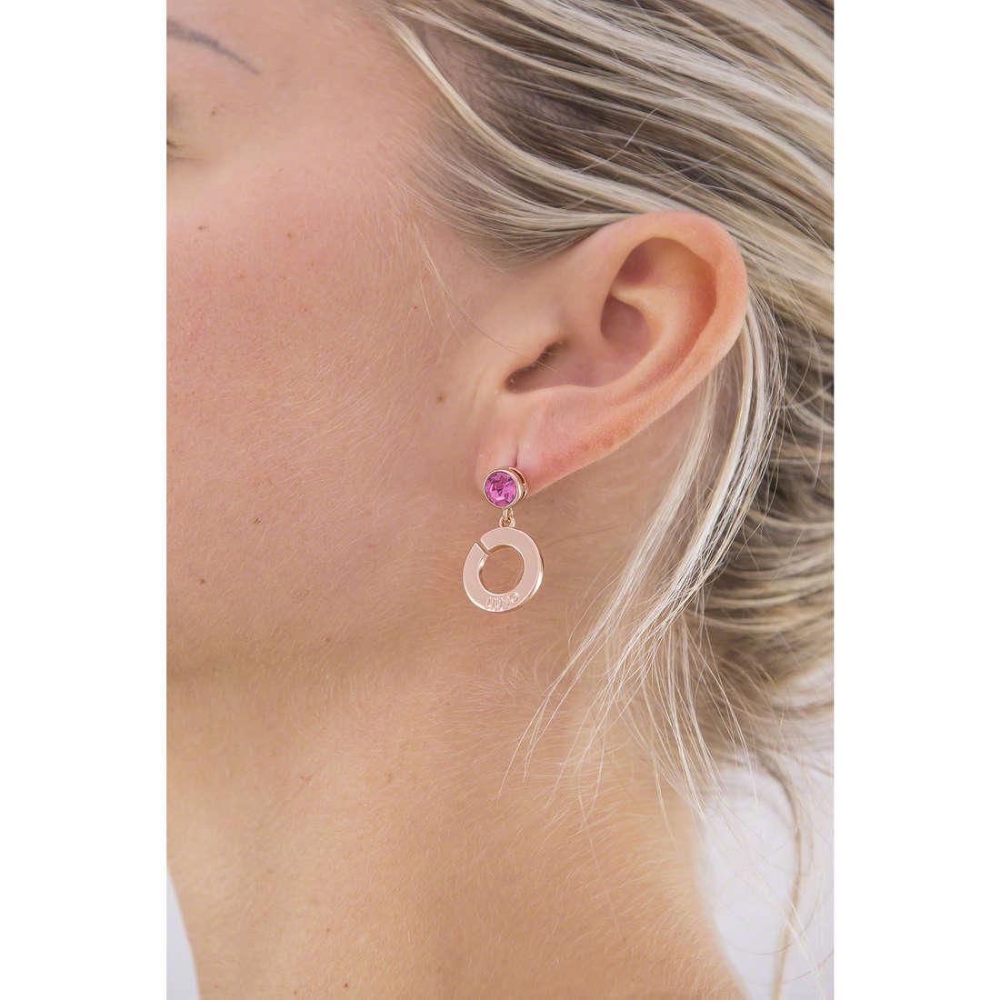 Liujo earrings Illumina woman LJ969 indosso
