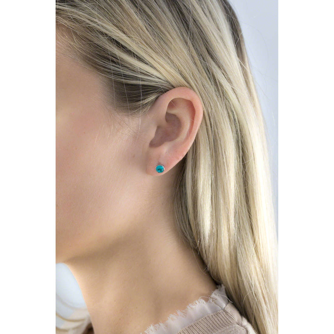 Luca Barra earrings woman LBOK569 photo wearing