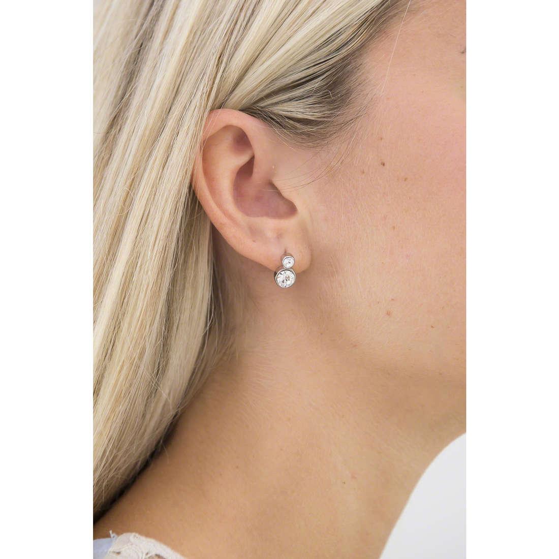 Luca Barra earrings woman LBOK572 indosso