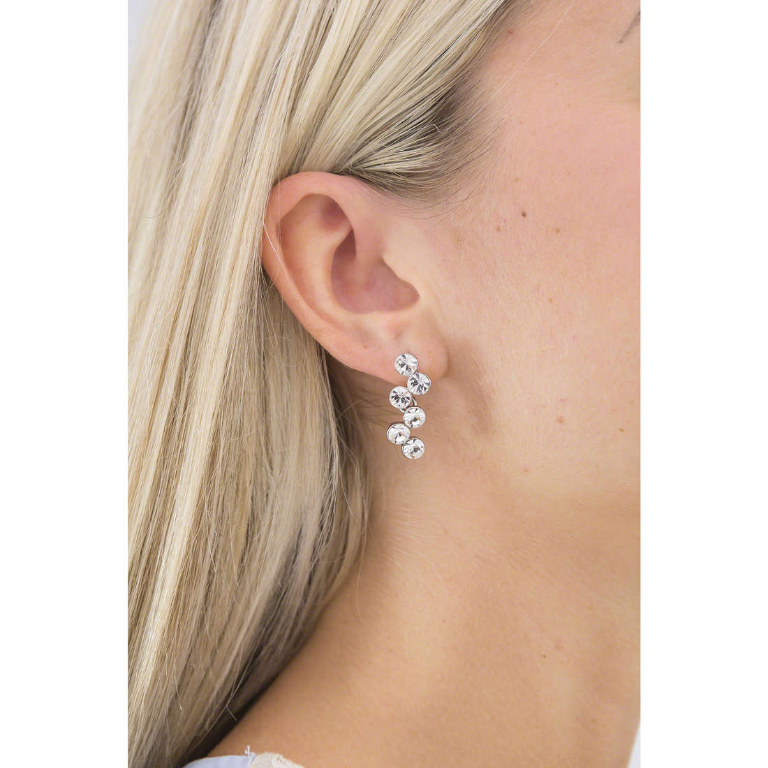 Luca Barra earrings woman LBOK599 indosso