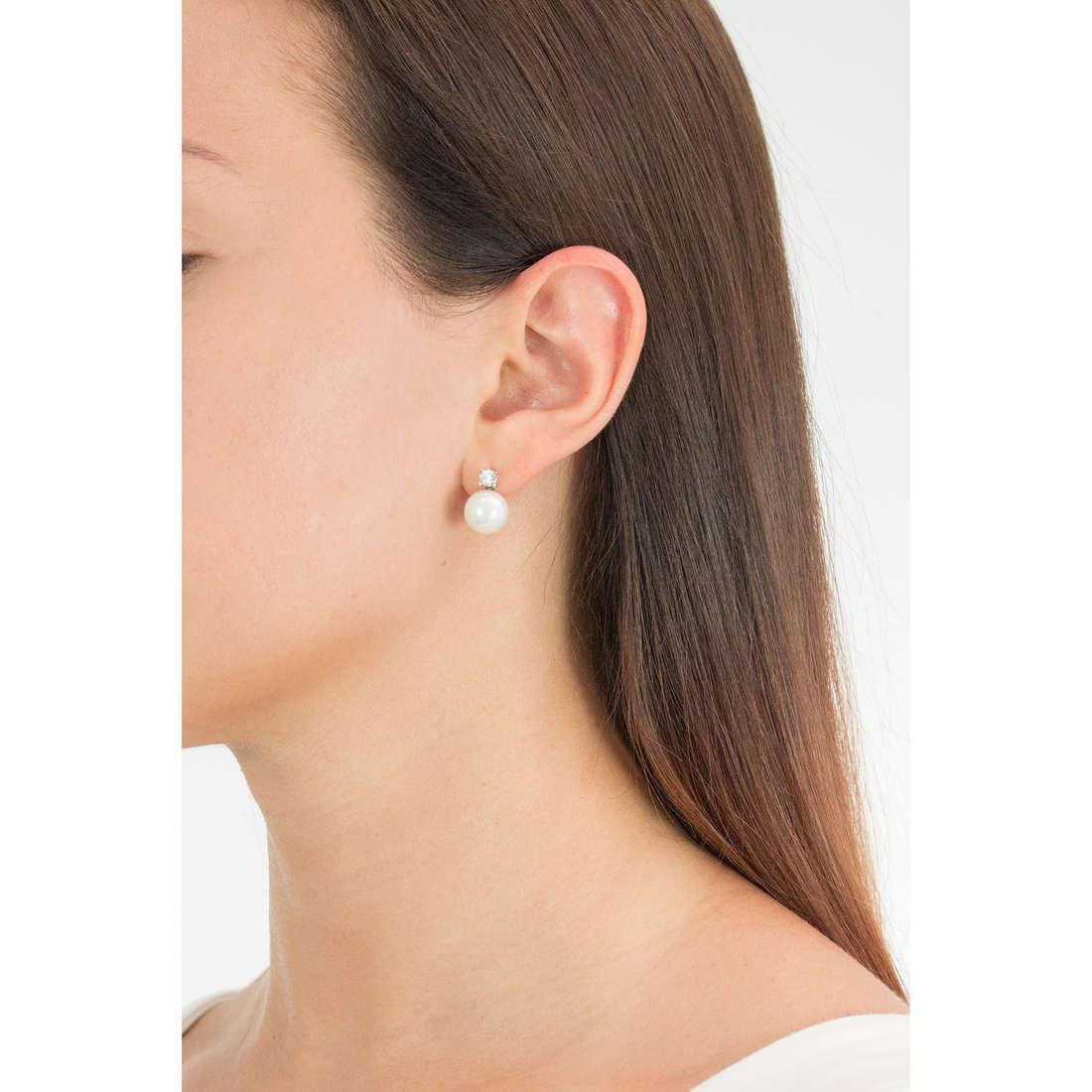 Luca Barra earrings woman LBOK636 photo wearing