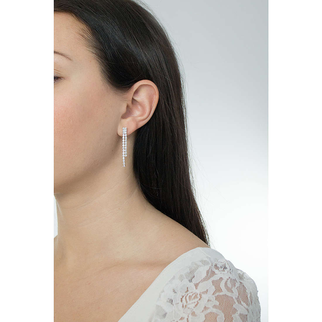 Luca Barra earrings woman LBOK654 photo wearing