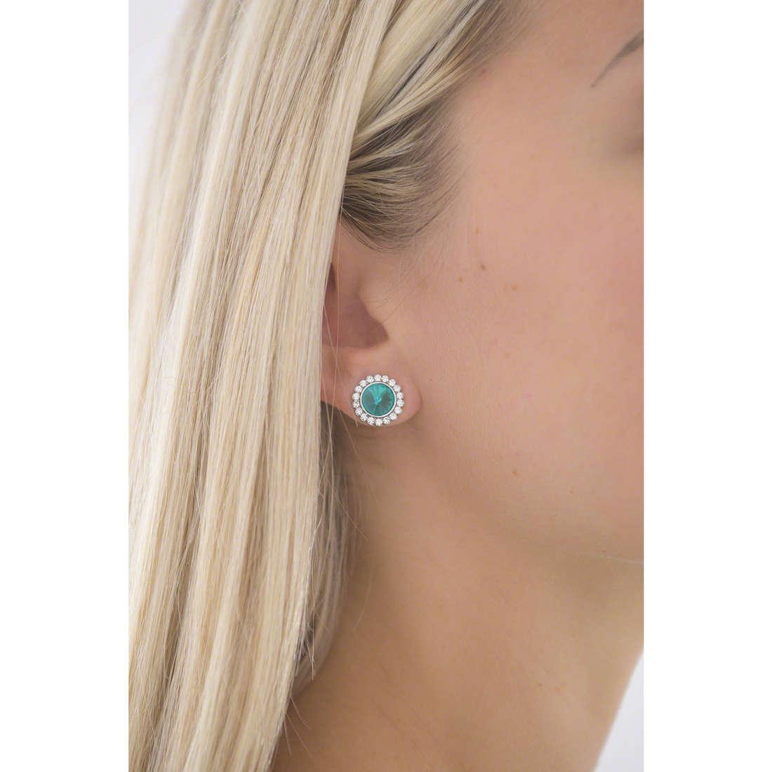 Luca Barra earrings woman LBOK670 photo wearing