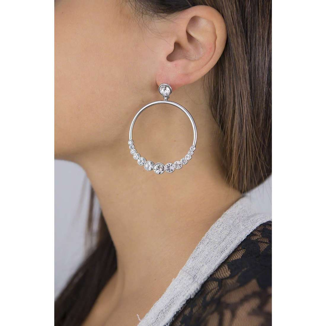 Luca Barra earrings woman LBOK737 indosso