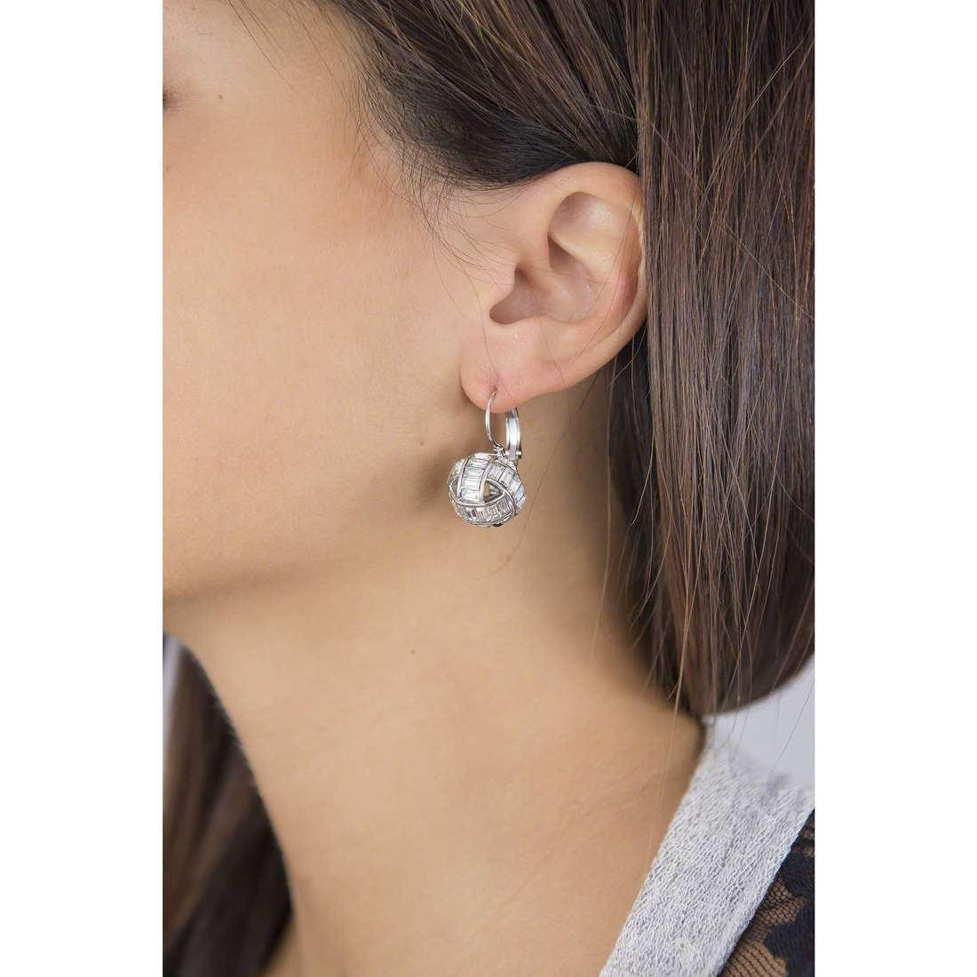 Luca Barra earrings woman LBOK787 indosso