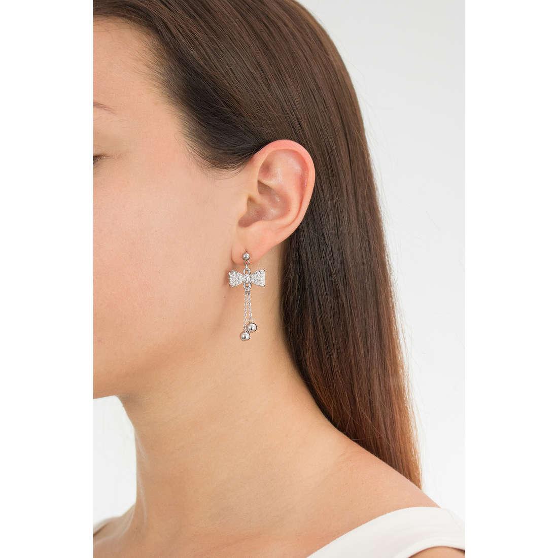 Luca Barra earrings woman LBOK793 photo wearing