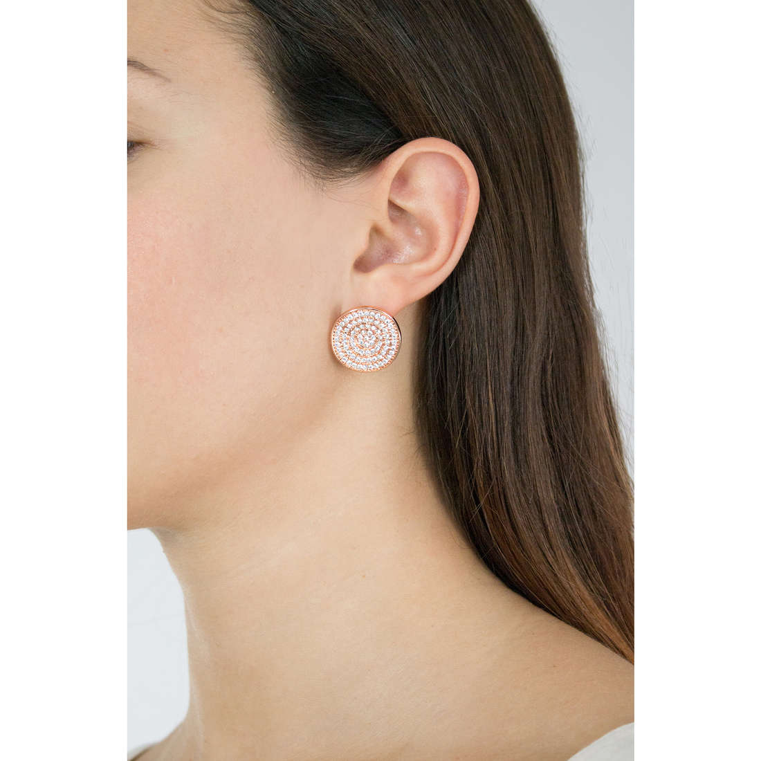 Luca Barra earrings woman LBOK803 photo wearing