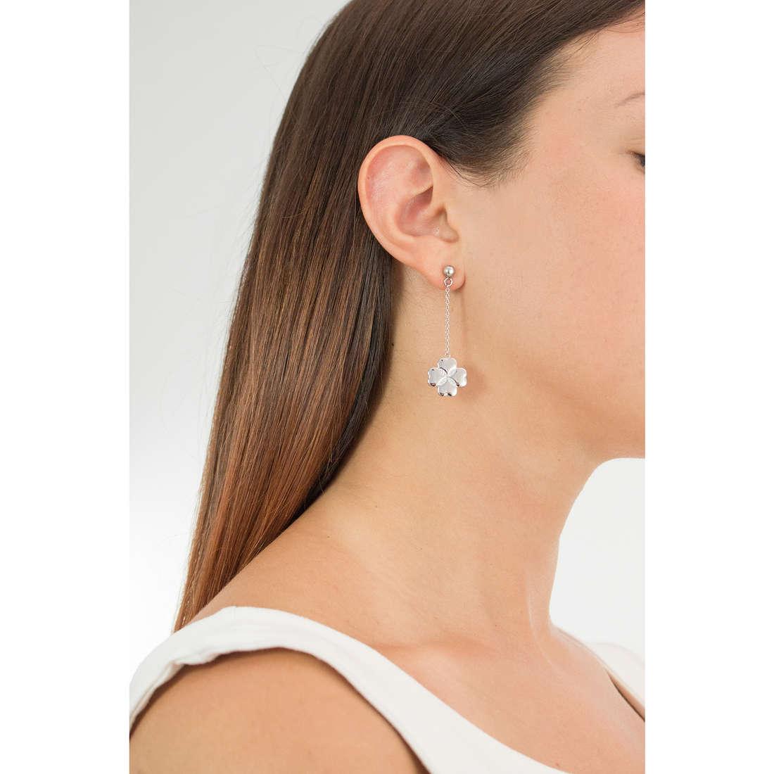Luca Barra earrings woman LBOK815 photo wearing