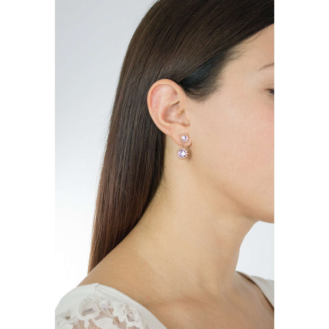 Luca Barra earrings woman LBOK828 photo wearing