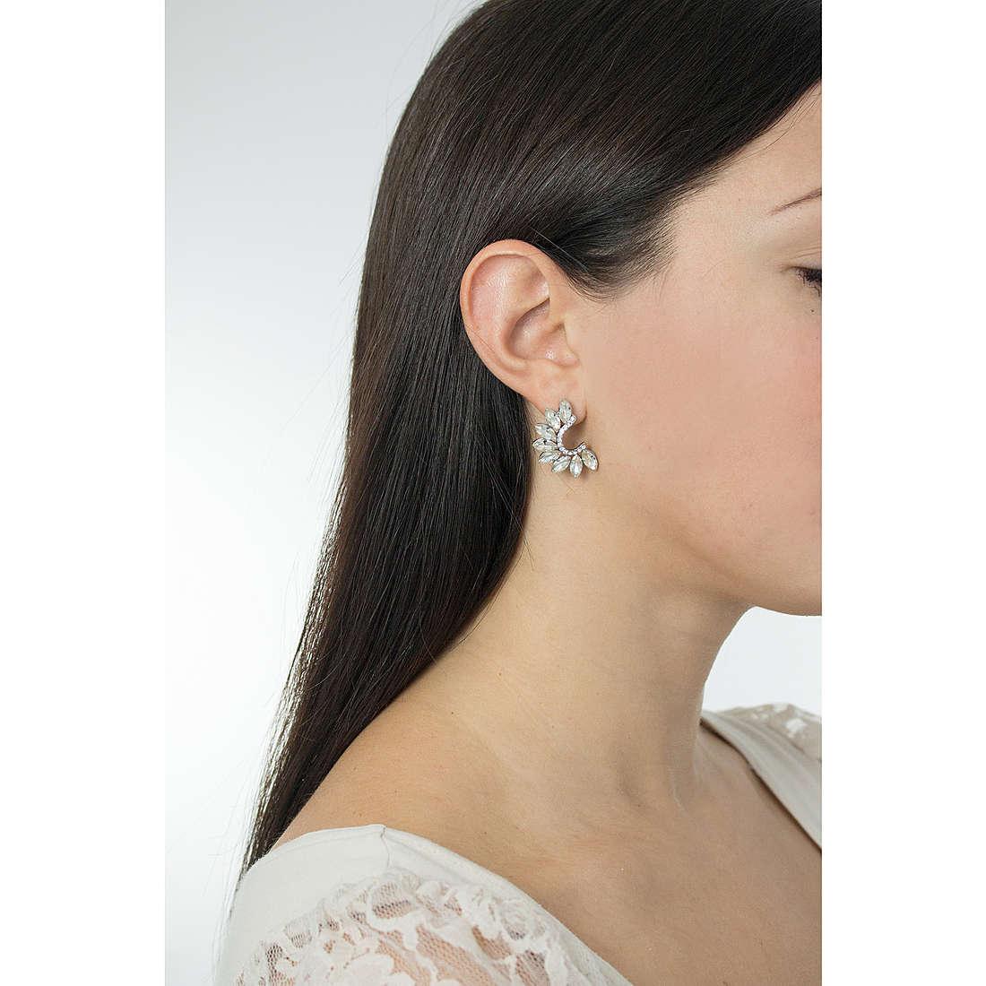 Luca Barra earrings Madelaine woman LBOK727 photo wearing