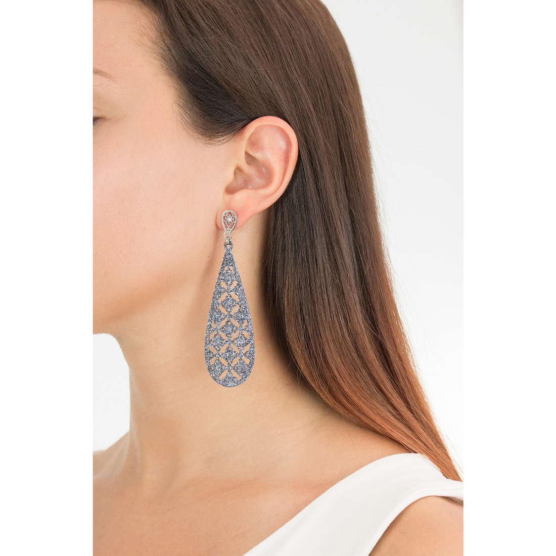 Luca Barra earrings Peggy woman LBOK701 photo wearing