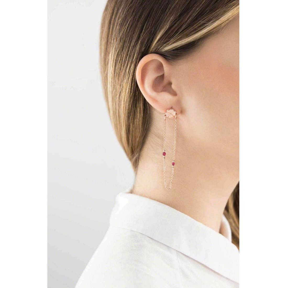 Marlù earrings Clover woman 18OR020R indosso