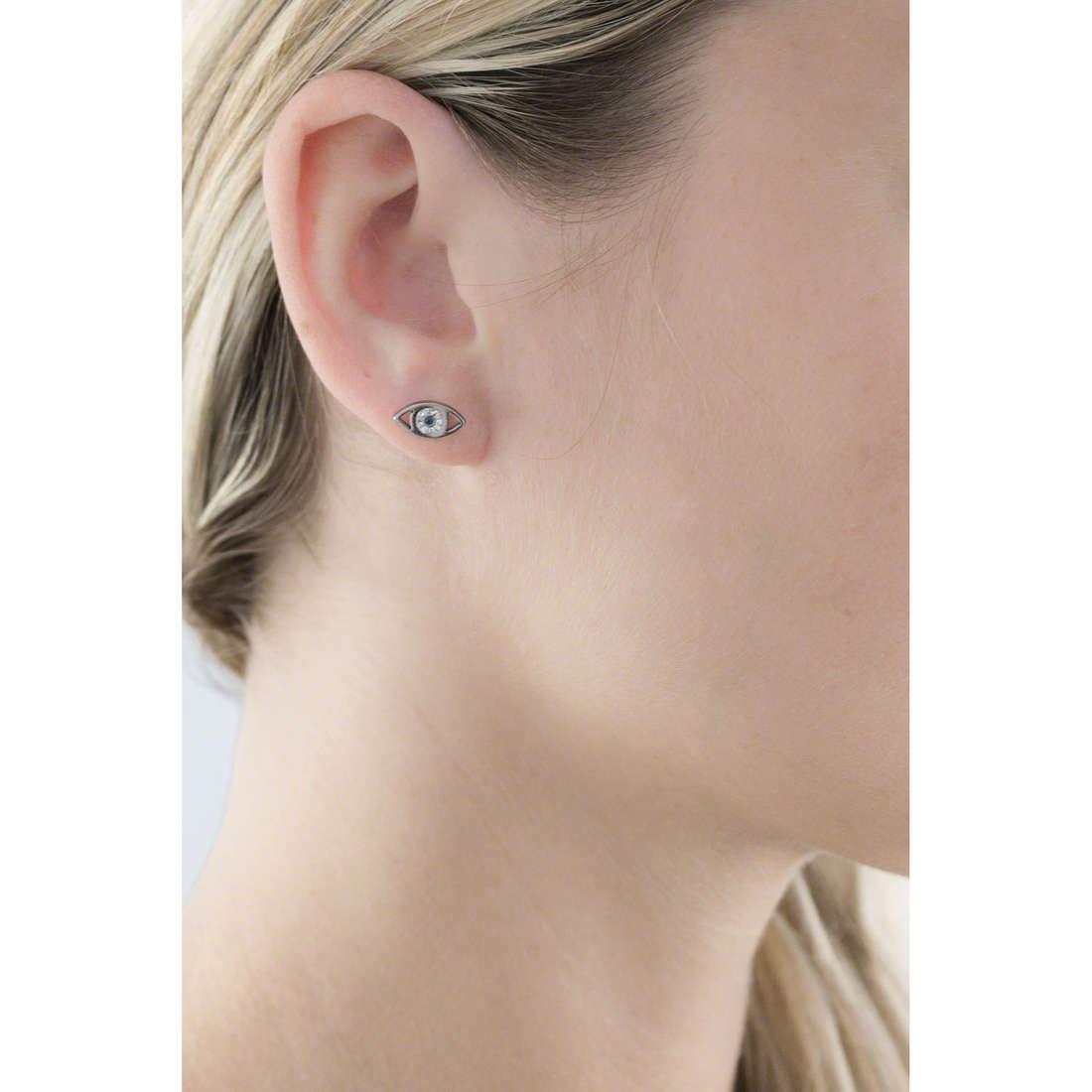Marlù earrings Mano Di Fatima woman 14OR024 indosso