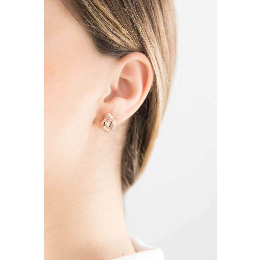 Marlù earrings Sacro Cuore woman 13OR010 indosso