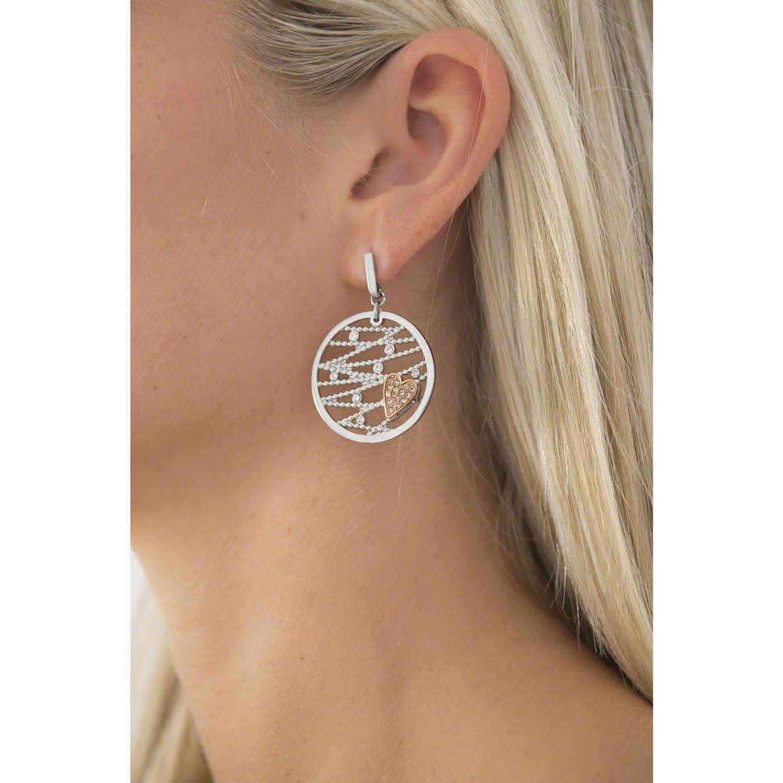 Morellato earrings Cuore Mio woman SADA06 indosso