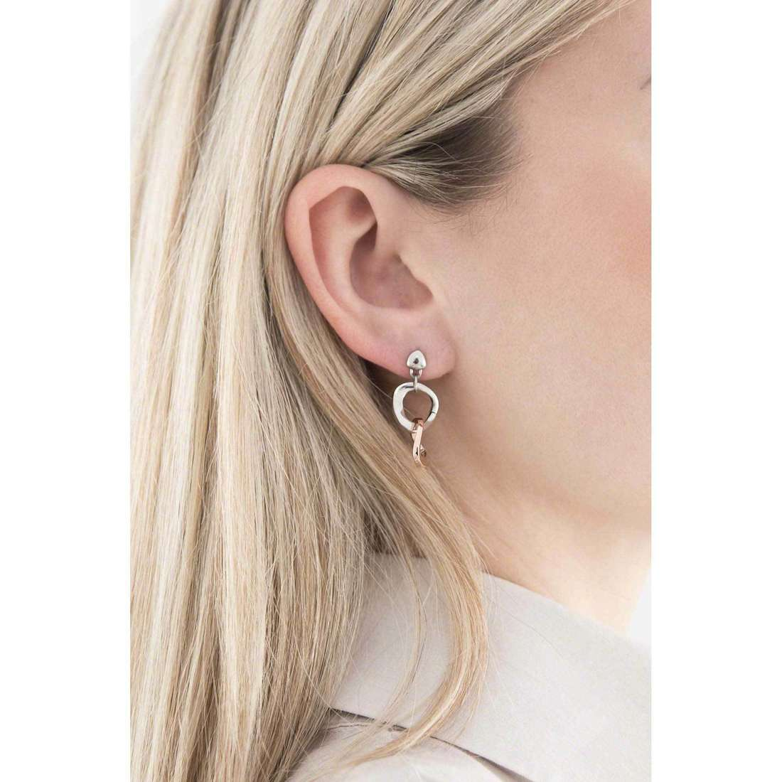 Morellato earrings Senza fine woman SKT05 indosso