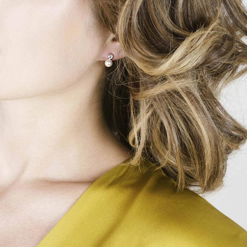 Nomination earrings Bella woman 142662/012 photo wearing