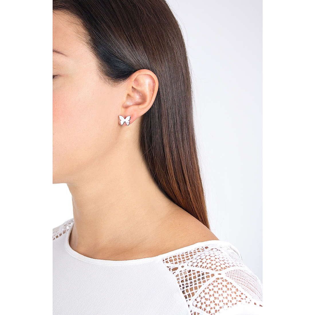 Nomination earrings Butterfly woman 021308/002 indosso