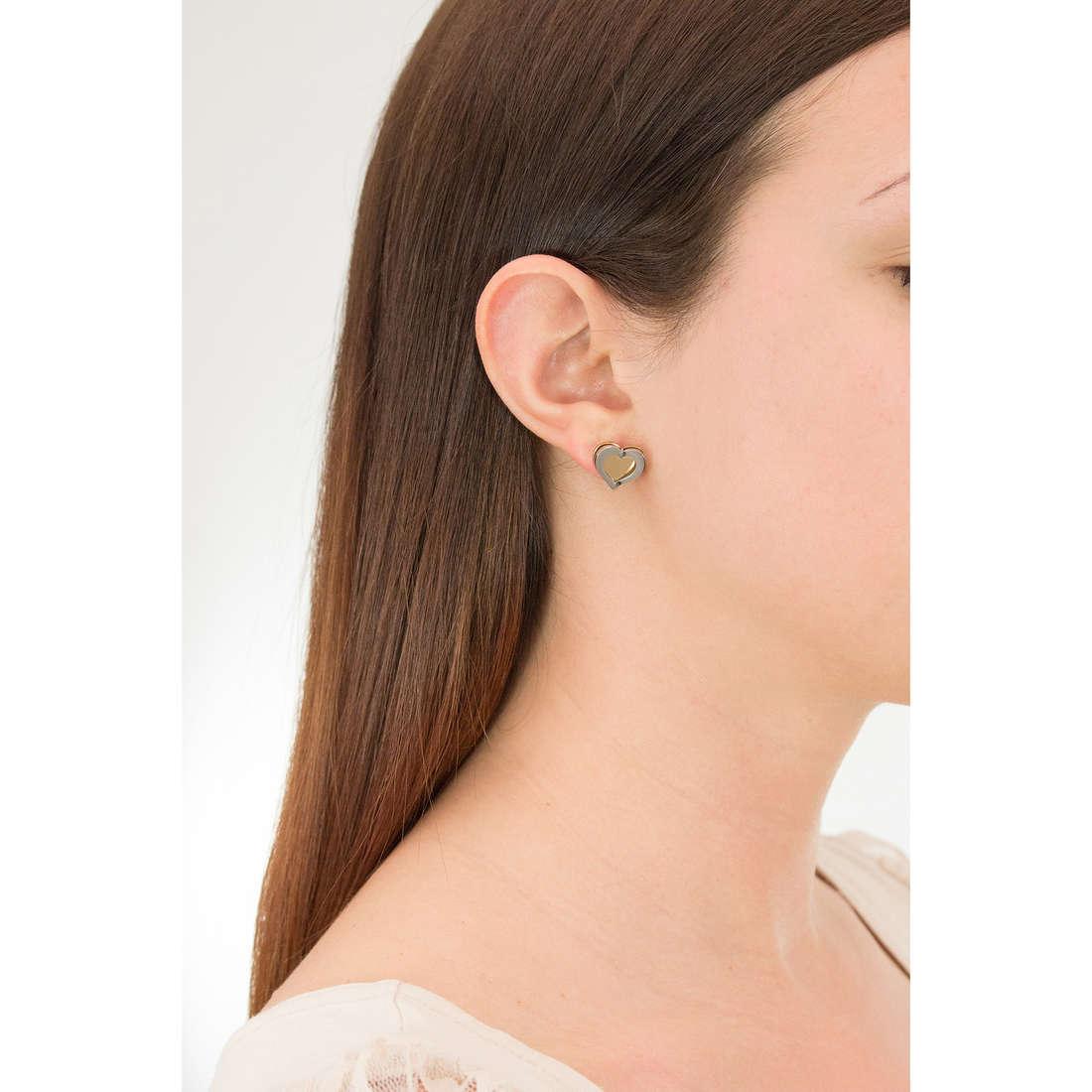 Sagapò earrings BUTTERFLY woman SBF22 indosso