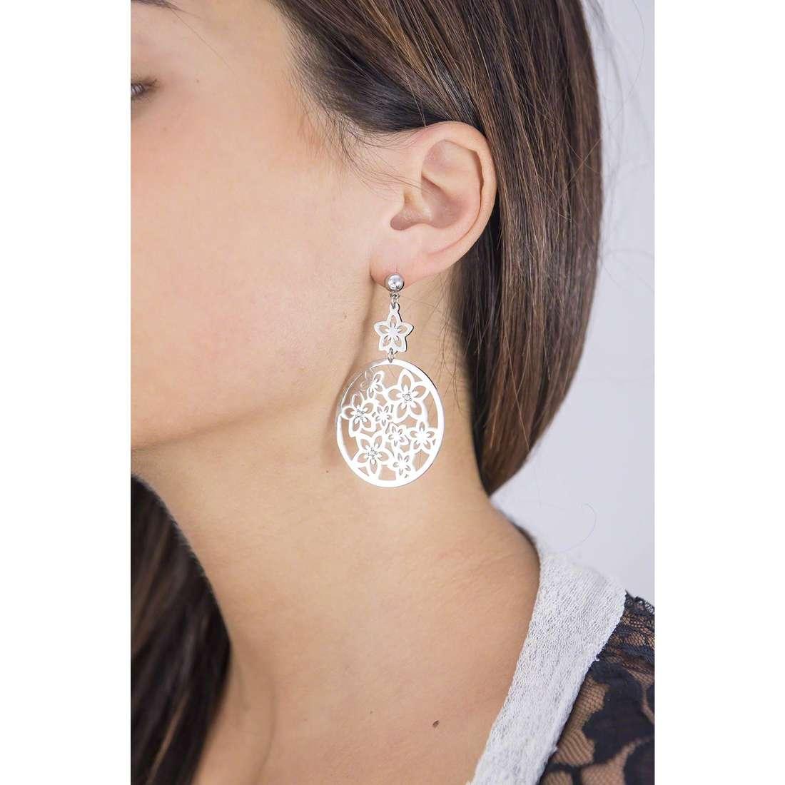 Sagapò earrings Flower woman SFL21 indosso