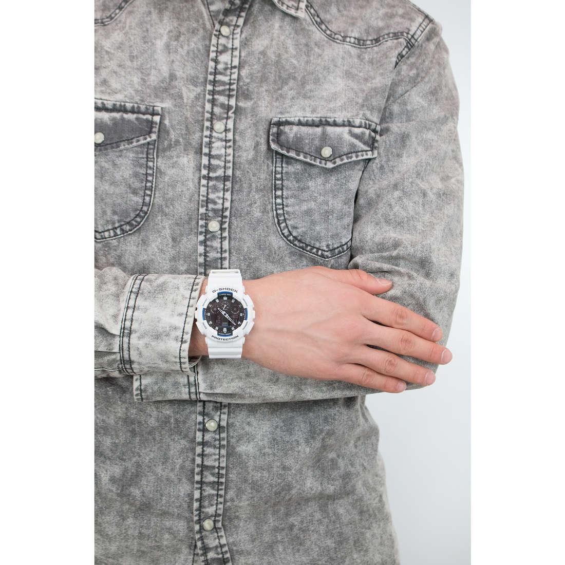 Casio numériques G-Shock homme GA-100B-7AER indosso